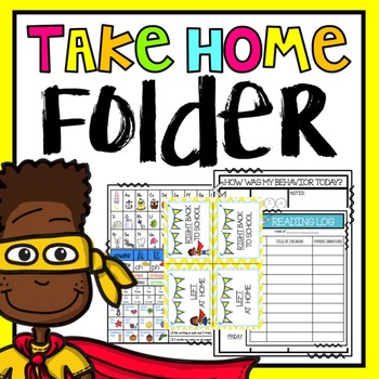 Take Home Folder {EDITABLE SUPER HERO THEME}