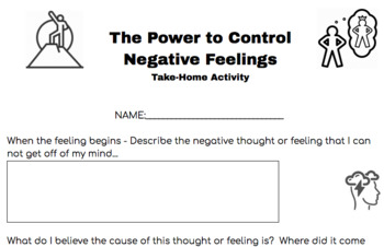 Take-Home Activity for Counselors - Overcoming Negative Thoughts
