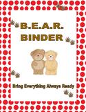 Take Home Binder (Bear Theme)