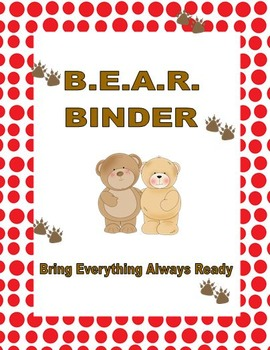 Take Home Binder (Bear Theme)