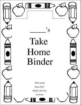 Take Home Binder Cover