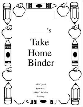 Take Home Binder Cover
