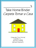 Take Home Binder - Cover, Contract, & Labels - Aqua Border