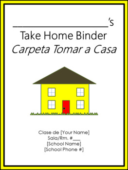 Take Home Binder - Cover, Contract, & Labels - Bee Theme Colors