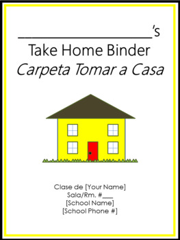 Take Home Binder - Cover, Contract, & Labels - Bee Theme Colors Border
