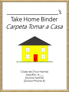 Take Home Binder - Cover, Contract, & Labels - Burlap Border