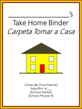 Take Home Binder - Cover, Contract, & Labels - Charlie Brown Tribute Colors