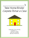 Take Home Binder - Cover, Contract, & Labels - Green Border