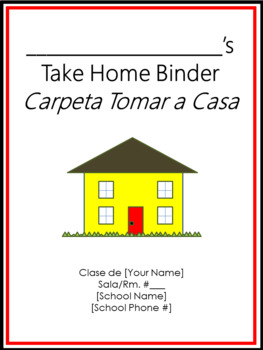 Take Home Binder - Cover, Contract, & Labels - Red & Black Border