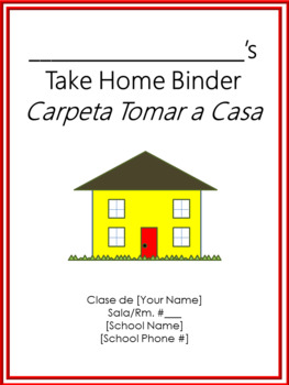 Take Home Binder - Cover, Contract, & Labels - Red Border