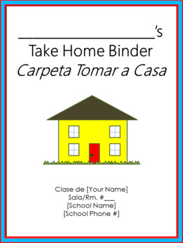 Take Home Binder - Cover, Contract, & Labels - Thick Dr. Seuss Tribute Colors