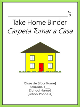 Take Home Binder - Cover, Contract, & Labels - Thick Green Border
