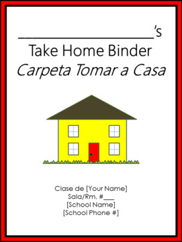 Take Home Binder - Cover, Contract, & Labels - Thick Red & Black Border