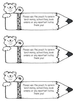 Take Home Binder Sleeve Note