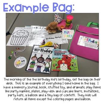 Take Home Birthday Bag