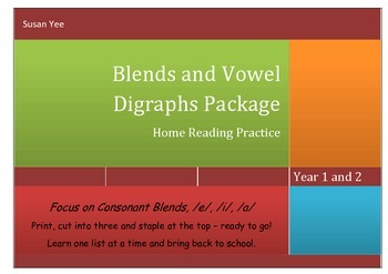 Take Home Blends and Long Vowels Practice - Synthetic Phonics