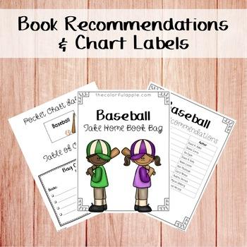 Take Home Book Bags: Baseball