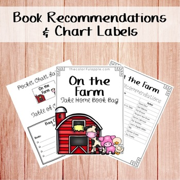 Take Home Book Bags: Farm Animals
