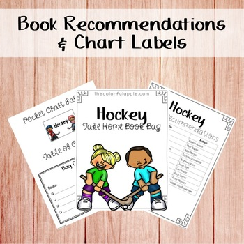 Take Home Book Bags: Hockey