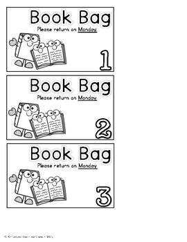 Take Home Book Bags Kit
