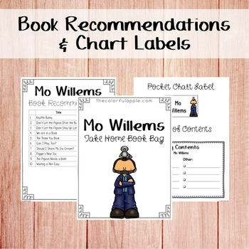 Take Home Book Bags: Mo Willems