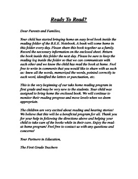 letters home to parents from teachers