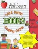 Take Home Books Reading Folders { customizable }