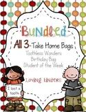 Kindergarten Take Home Bags: All 3 Best Sellers Bundled