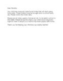 Take Home/Communication Folder Instructions Letter