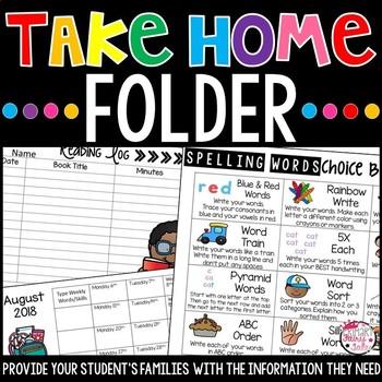 Take Home Communication Folders