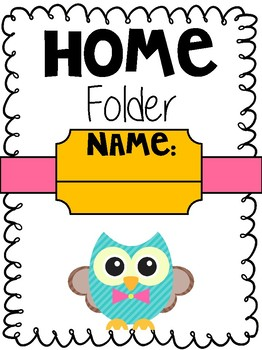 Take Home Cover Sheet (Owl Theme)