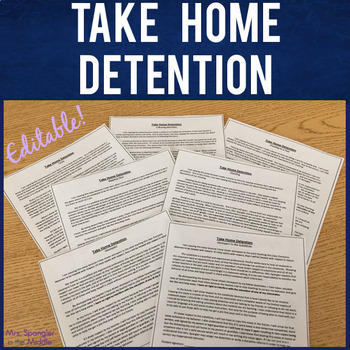 Detention Work:  Take Home Compositions - EDITABLE!