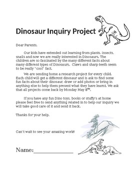 Take Home Dinosaur Project