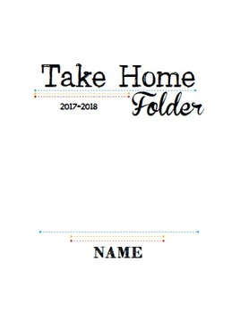 Take Home Folder Cover Page