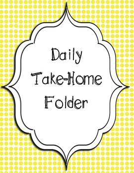 Take Home Folder Cover Pages