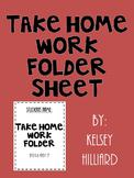 communication Folder- cover sheet black and white design