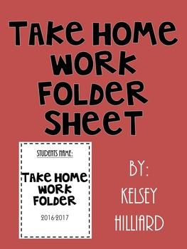 Take home folder cover sheet teaching resources teachers pay teachers communication folder cover sheet black and white design fandeluxe Images