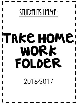 communication Folder- cover sheet black and white design
