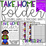 Take Home Folder Covers, Labels, & Tracking Sheets (EDITABLE)