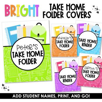 Take Home Covers (Editable)