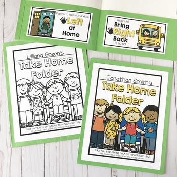 Take Home Folder - Editable!