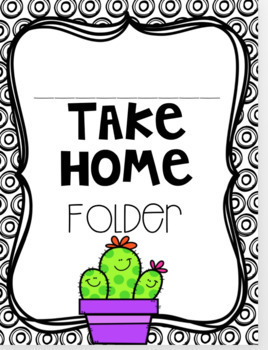 Take Home Folder Editable
