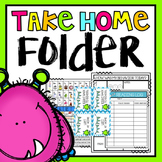 Take Home Folder {Editable Monster Theme}