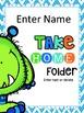 Take Home Folder {Editable Monster Theme}