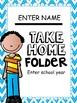Take Home Folder {Editable Sweet Kids Theme}
