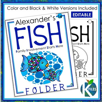 Take Home Folder: FISH Folder: Family Involvement Starts Here