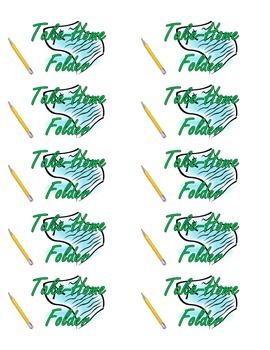 Take Home Folder Label
