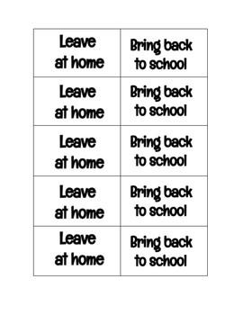 Take Home Folder Labels