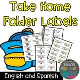 Take Home Folder Labels English & Spanish