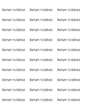 Take Home Folder Labels- Keep At Home/Return to School
